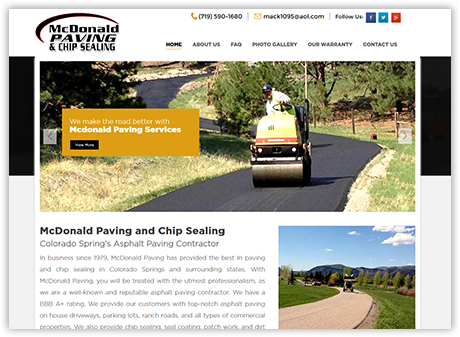 McDonald Paving and Chip Sealing