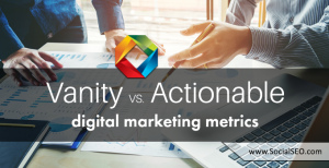 vanity vs. actionable metrics