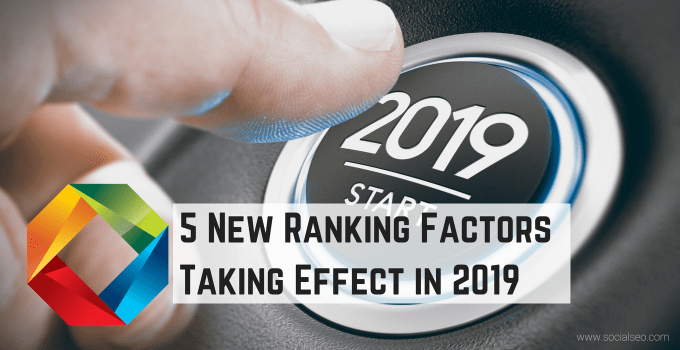 2019 Ranking Factors