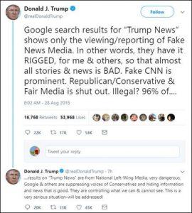 Donald Trump Tweet Fake News